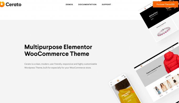Cerato WooCommerce 2.2.5 – Elementor WordPress Theme