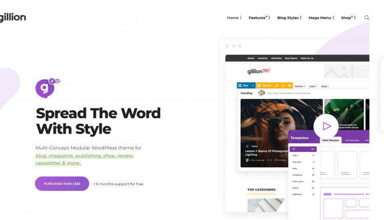 Gillion WordPress 3.9.4 – Multi-Concept Blog/Magazine Theme