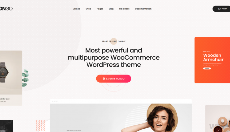Hongo WooCommerce 2.0 – Modern & Multipurpose WordPress Theme