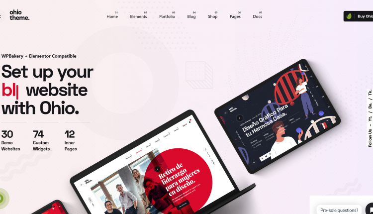 Ohio WordPress 2.3.4 – Creative Portfolio & Agency Theme