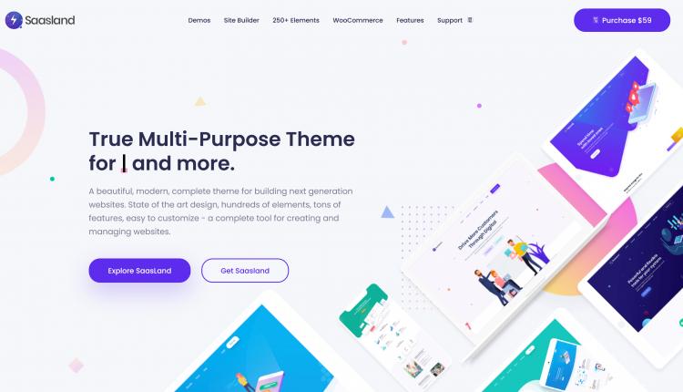 Saasland WordPress 3.3.3 – MultiPurpose Theme for Saas Startup