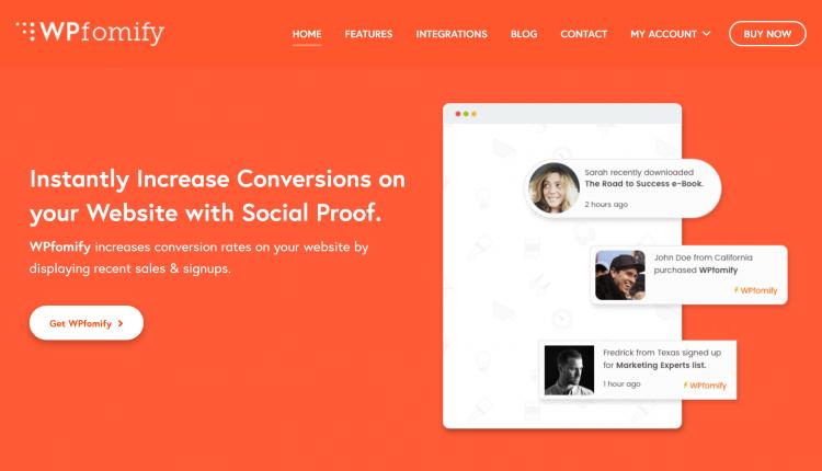 WPfomify 2.2.3 + All 5 Addons – Social Proof Marketing Plugin for WordPress