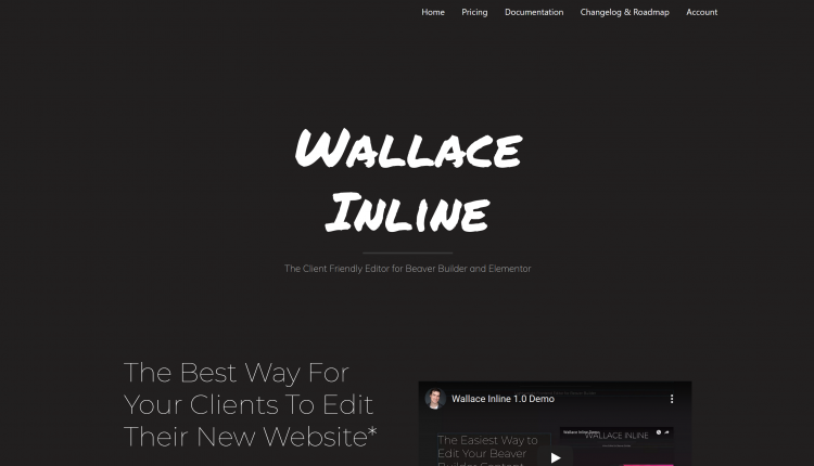 Wallace Inline WordPress 2.2.19 – Front-end content editor Plugin for Beaver Builder