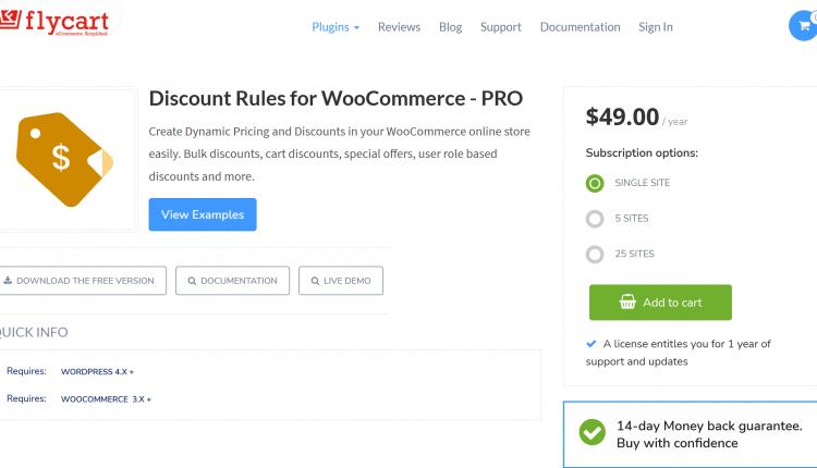 FlyCart Discount Rules Pro 2.3.4 -WooCommerce WordPress Plugin