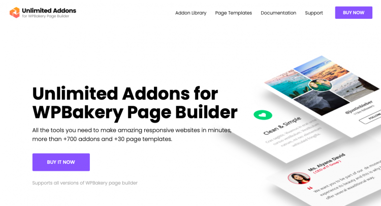 Unlimited Addons 1.0.41 WordPress for WPBakery Page Builder
