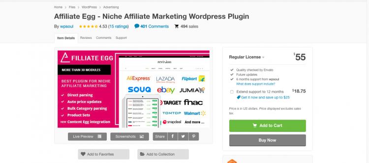 Affiliate Egg 10.0.1 WordPress – Niche Affiliate Marketing WordPress Plugin