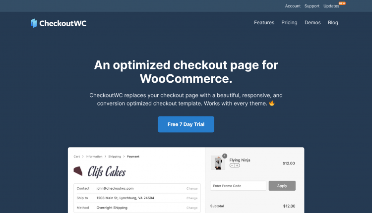CheckoutWC WooCommerce 4.1.0 – Optimized checkout templates