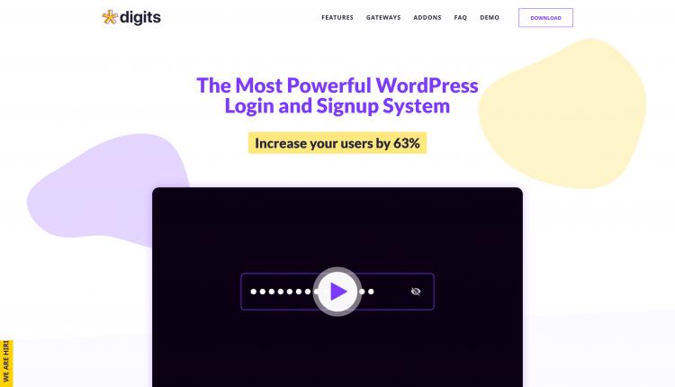 Digits WordPress 7.5.0.11 – Mobile Number Signup & Login Plugin