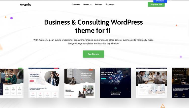 Avante WordPress 2.3.1 – Business Consulting Theme